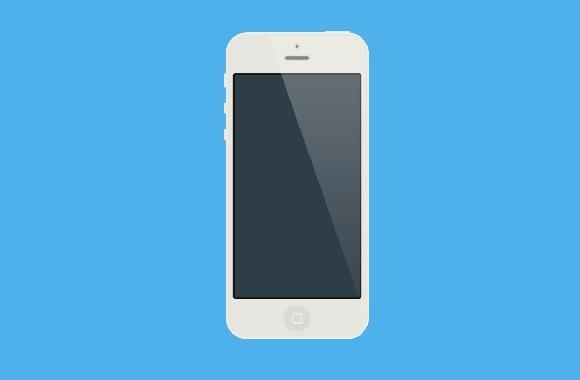 Flat iPhone5S White mockup