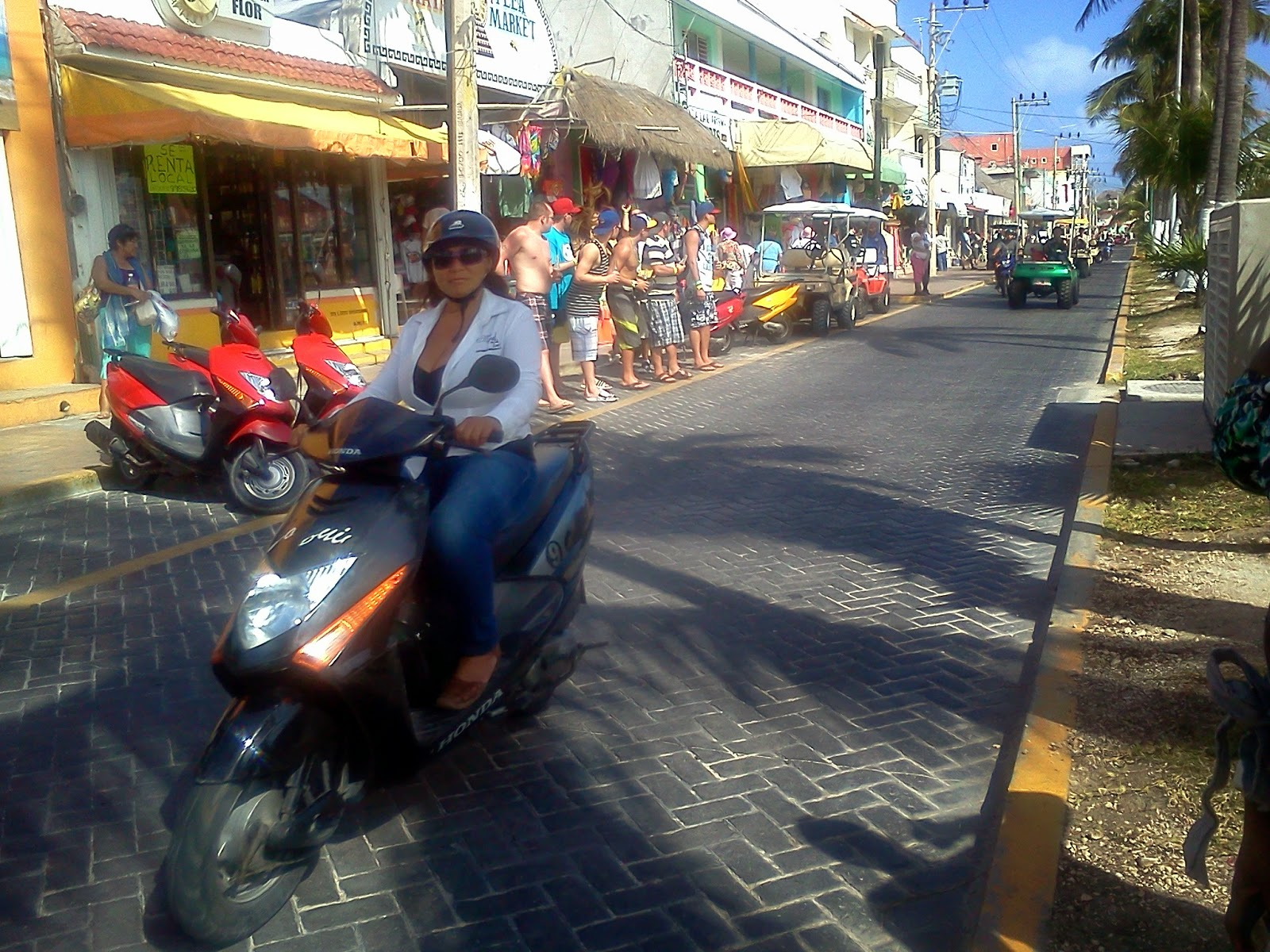 Motorcycle on Isla Mujeres