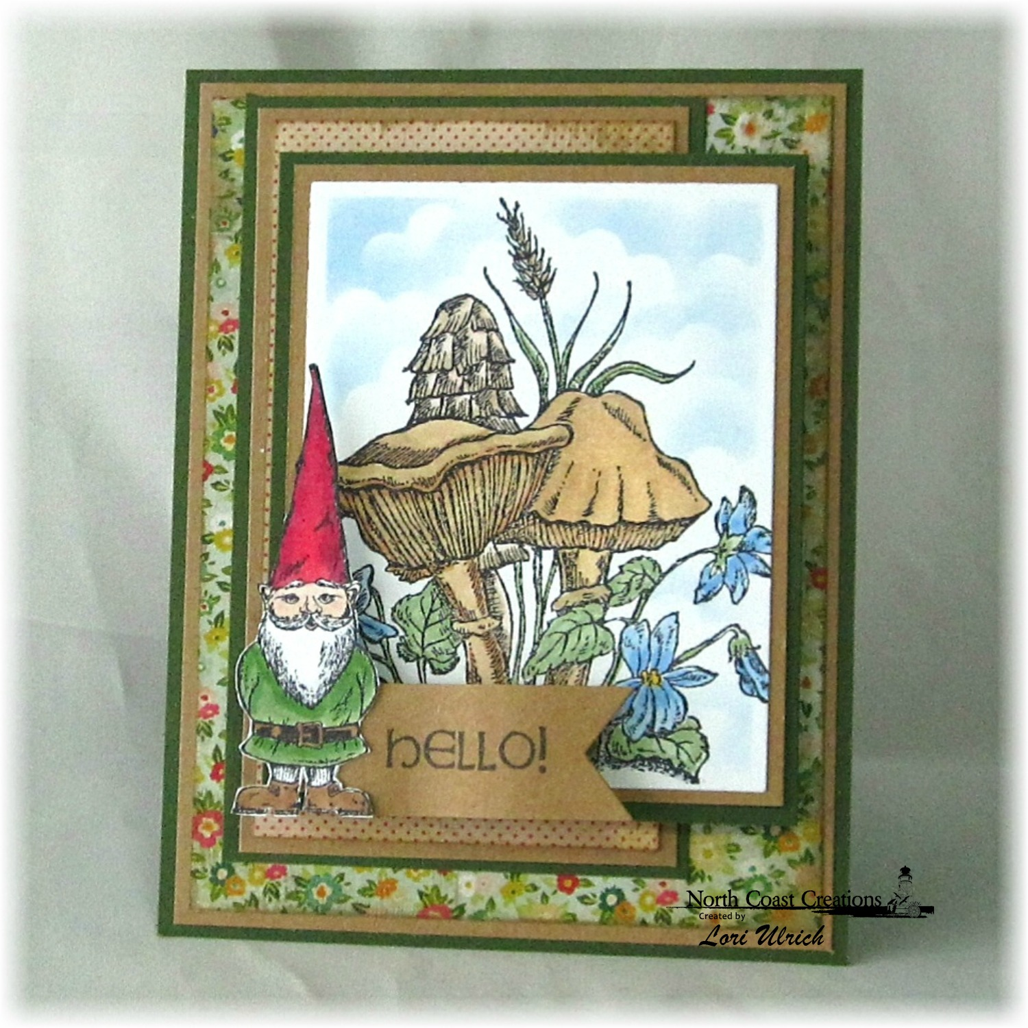 Stamps - North Coast Creations Gnome What?, Our Daily Bread Designs Custom Pennants Die