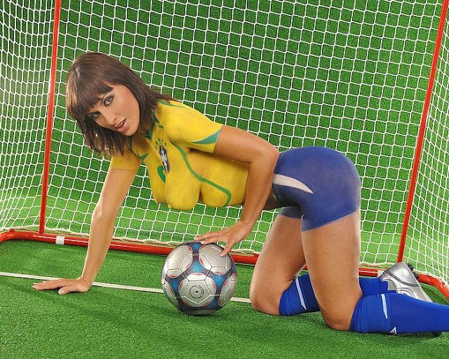 sexy girl body art paint ball dress shirt brazillia