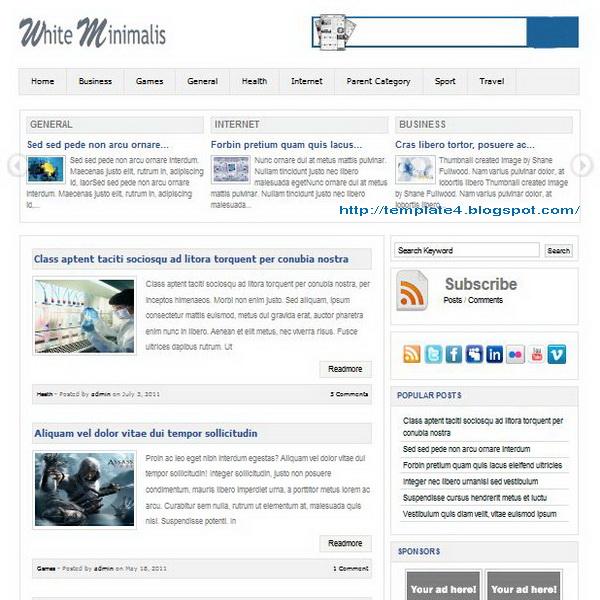 White Minimalist WordPress Theme