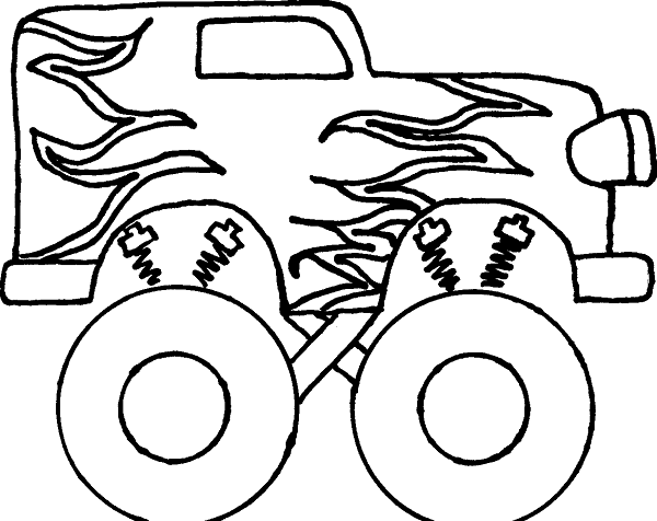 Transportation Coloring Pages Trucks