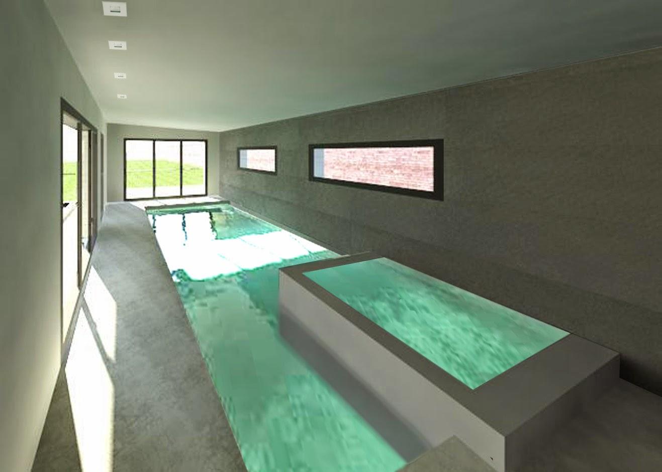 Jacques lenain architecte lille construction d 39 une maison for Piscine creusee interieure