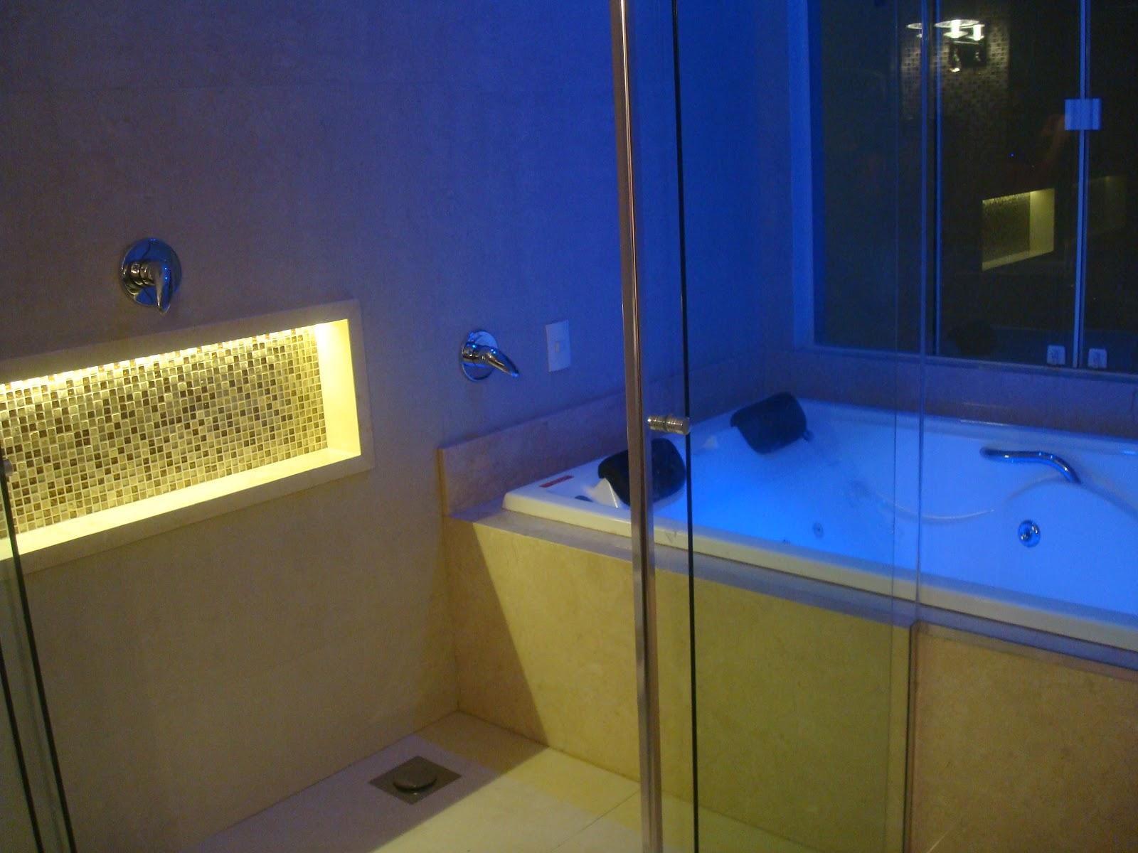 Nicho Banheiro Com Led  cgafghanscom banheiros pequenos e modernos -> Nicho Banheiro Led