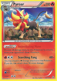 Pyroar Flashfire Pokemon Card