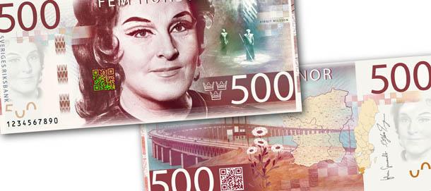 novas notas suecas - Birgit Nilsson