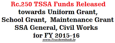 TSSA Funds, Uniform, School Grant, General,Civil Works
