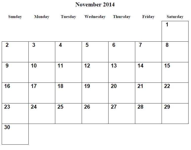 2014 Calendar Printable - Printable Calendar 2014, Blank Calendar ...