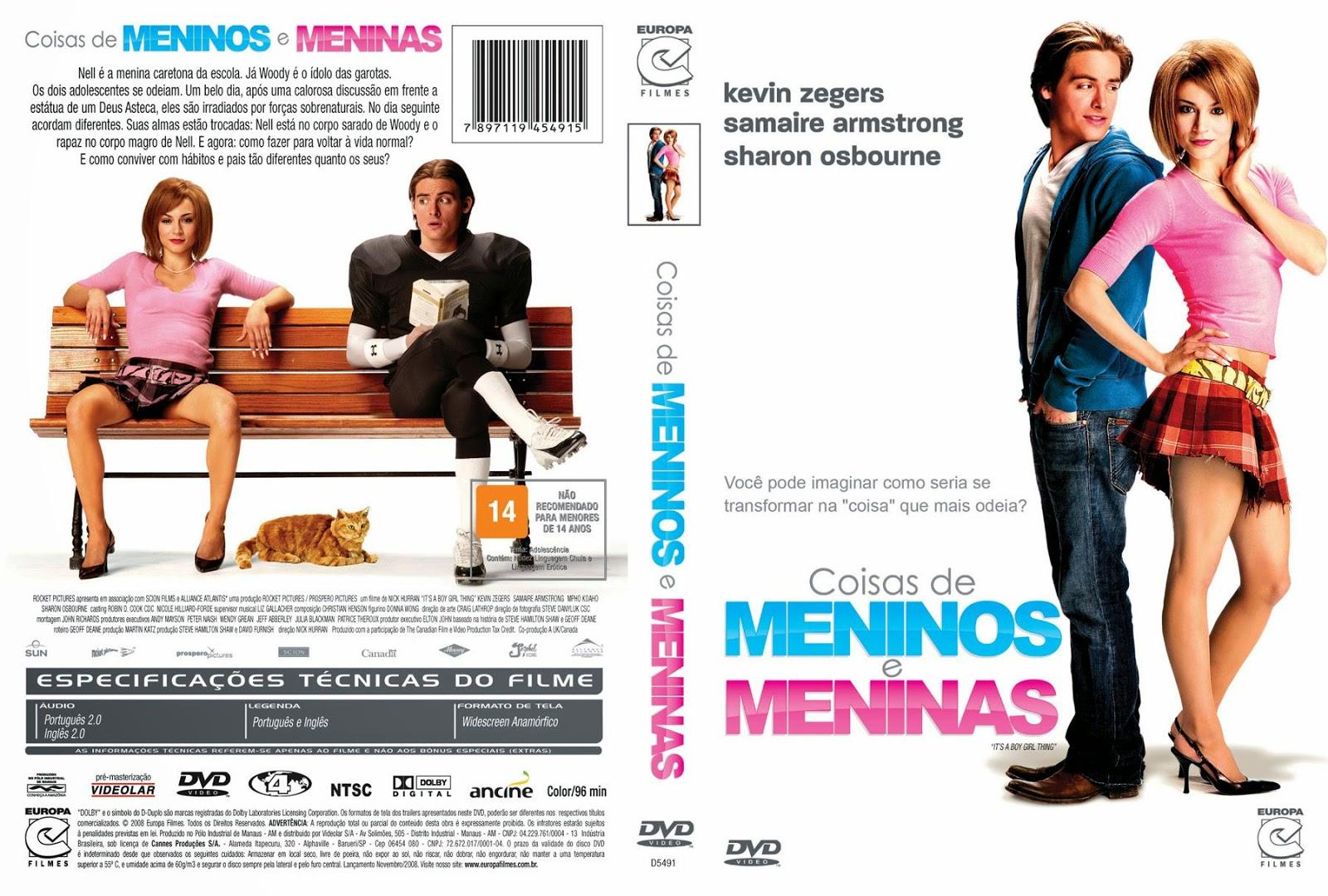 Capa DVD Coisas De Meninos E Meninas