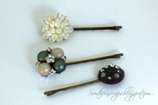 southern scraps easy diy bobby pins from vintage earrings