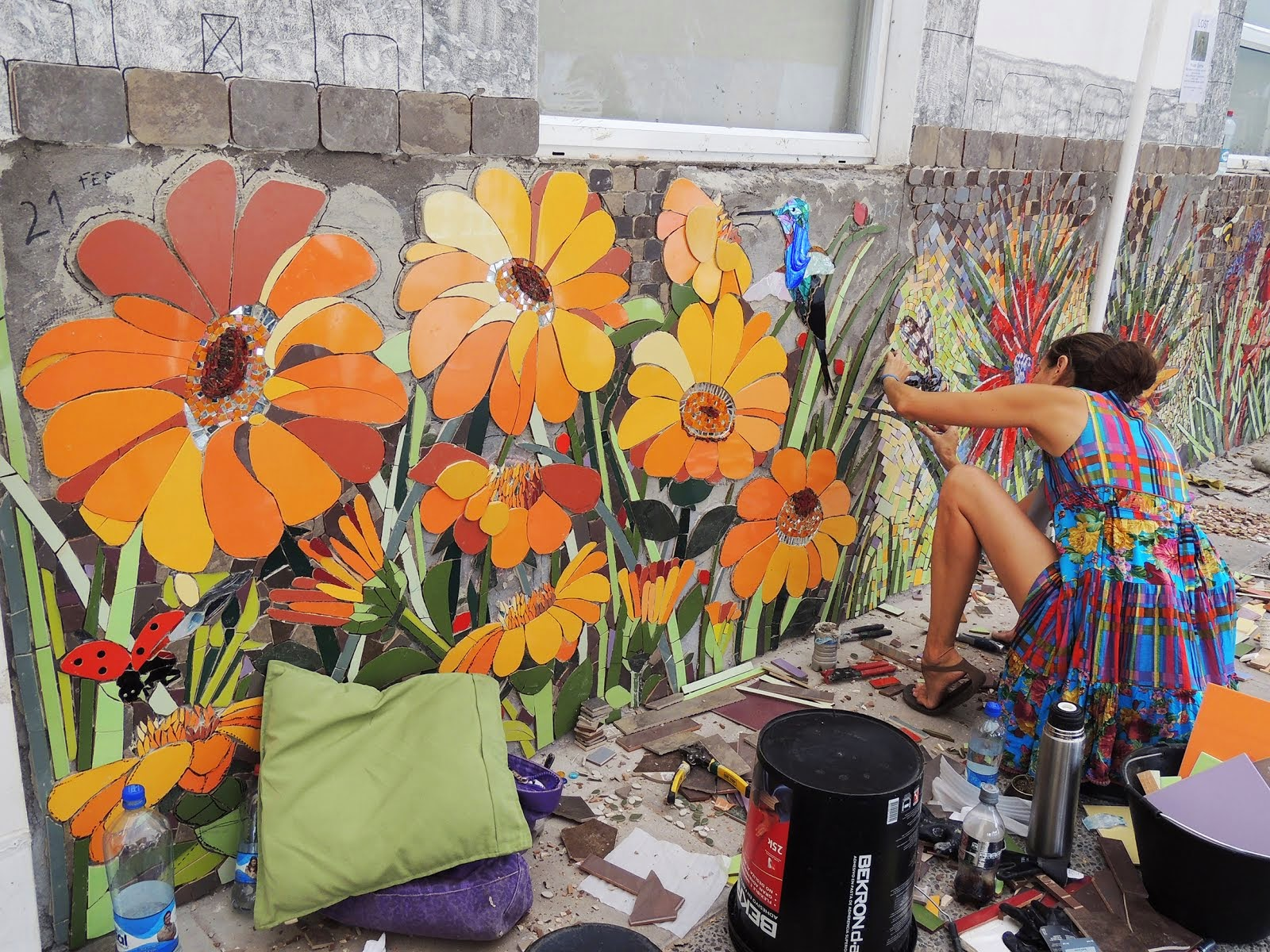 1st International Urban Mosaic Intervention - Stgo. Chile 2014