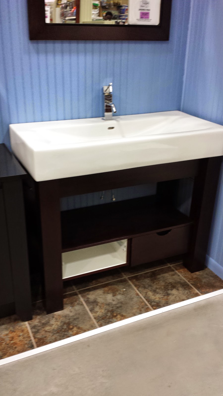 This Is Vanity Is Similar To The One Above, Has A Deeper Sink, And Covered  Storage. Size Isnu0027t An Issue Because Like Most Of The Vanities In This  Post, ...