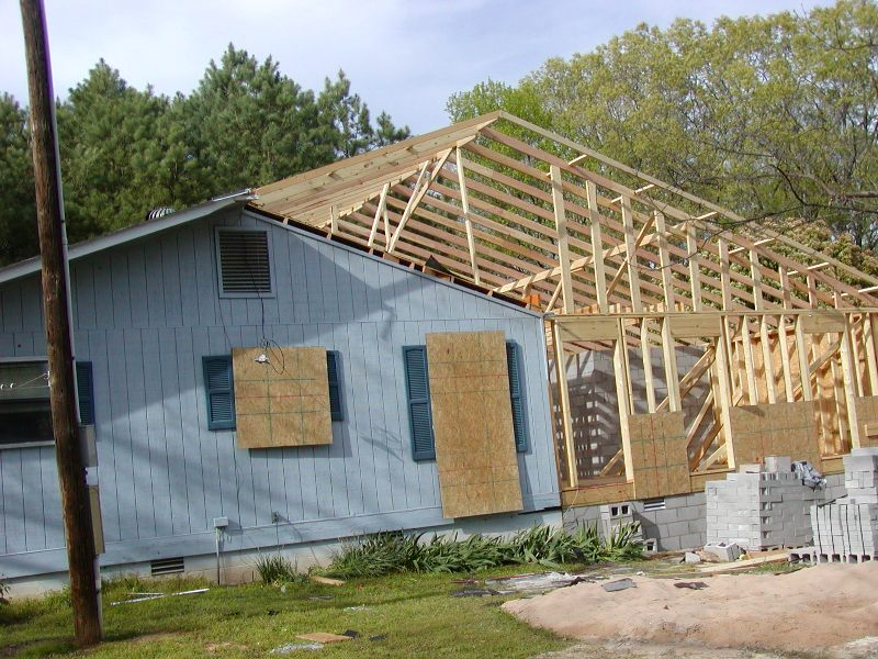 Grove Addition Project Roof Framing