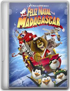 Capa Feliz Natal Madagascar   DVDRip   Dublado