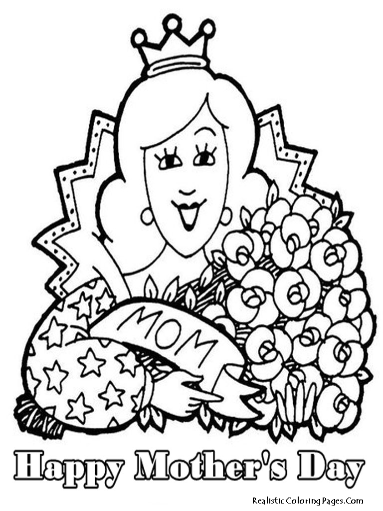 mother day color pages printable - happy mothers day coloring pages realistic coloring pages