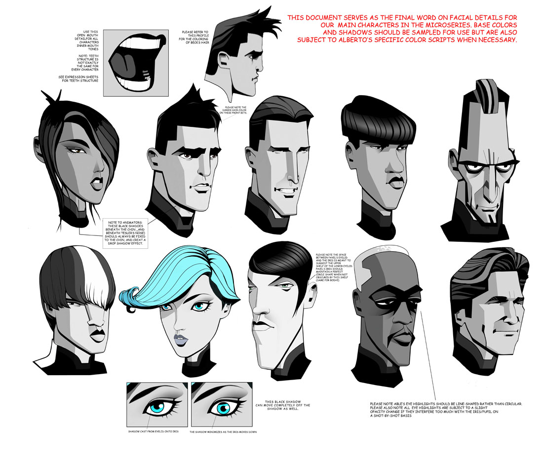 Character Design Drawing Challenge : Fashion and action tron uprising preview concept art