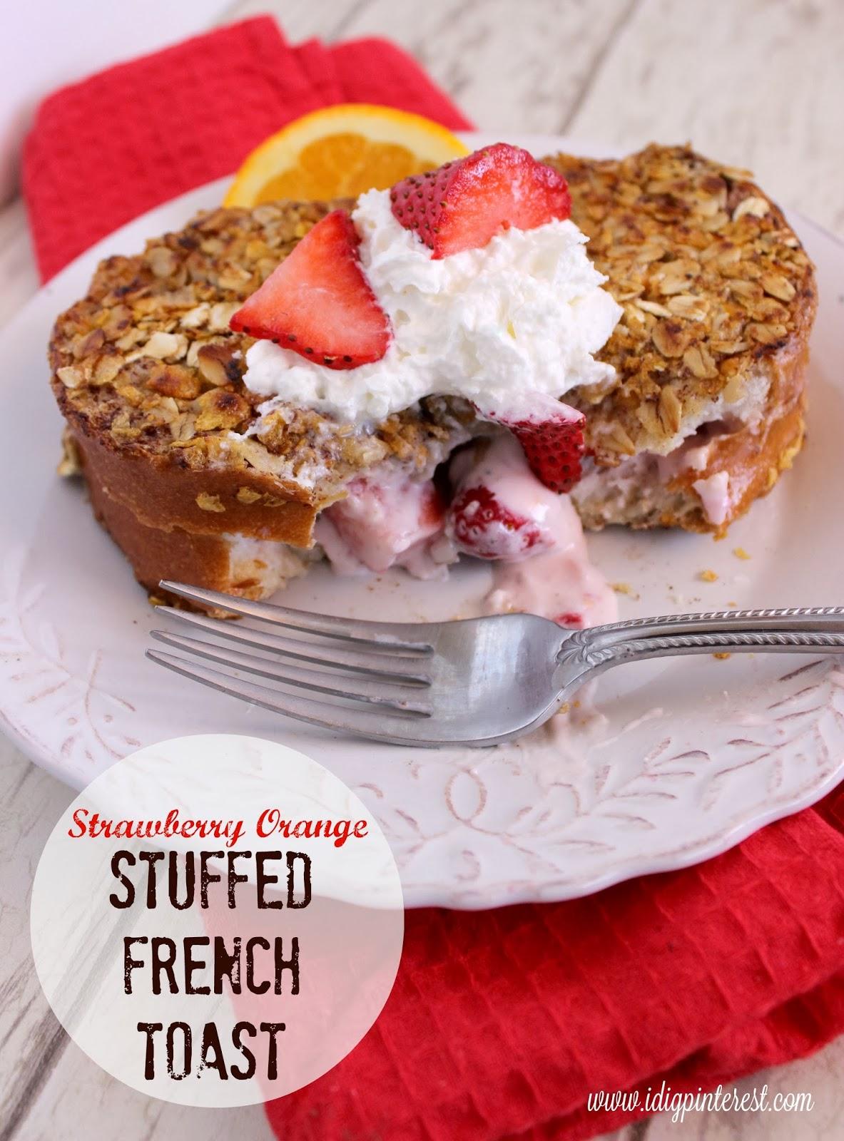 ... : Strawberry Orange Stuffed French Toast: January Mystery Dish