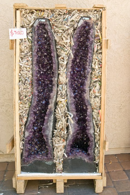 Amethyst geode slabs, February's Birthstone