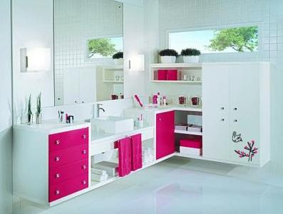 Blog de decorar banheiro decorado com adesivo papel for Papel decorado rosa