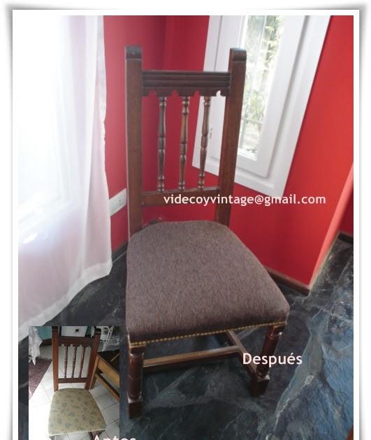 Videcoyvintage deco retapizado sillas colonial espa ol - Sillas estilo espanol ...