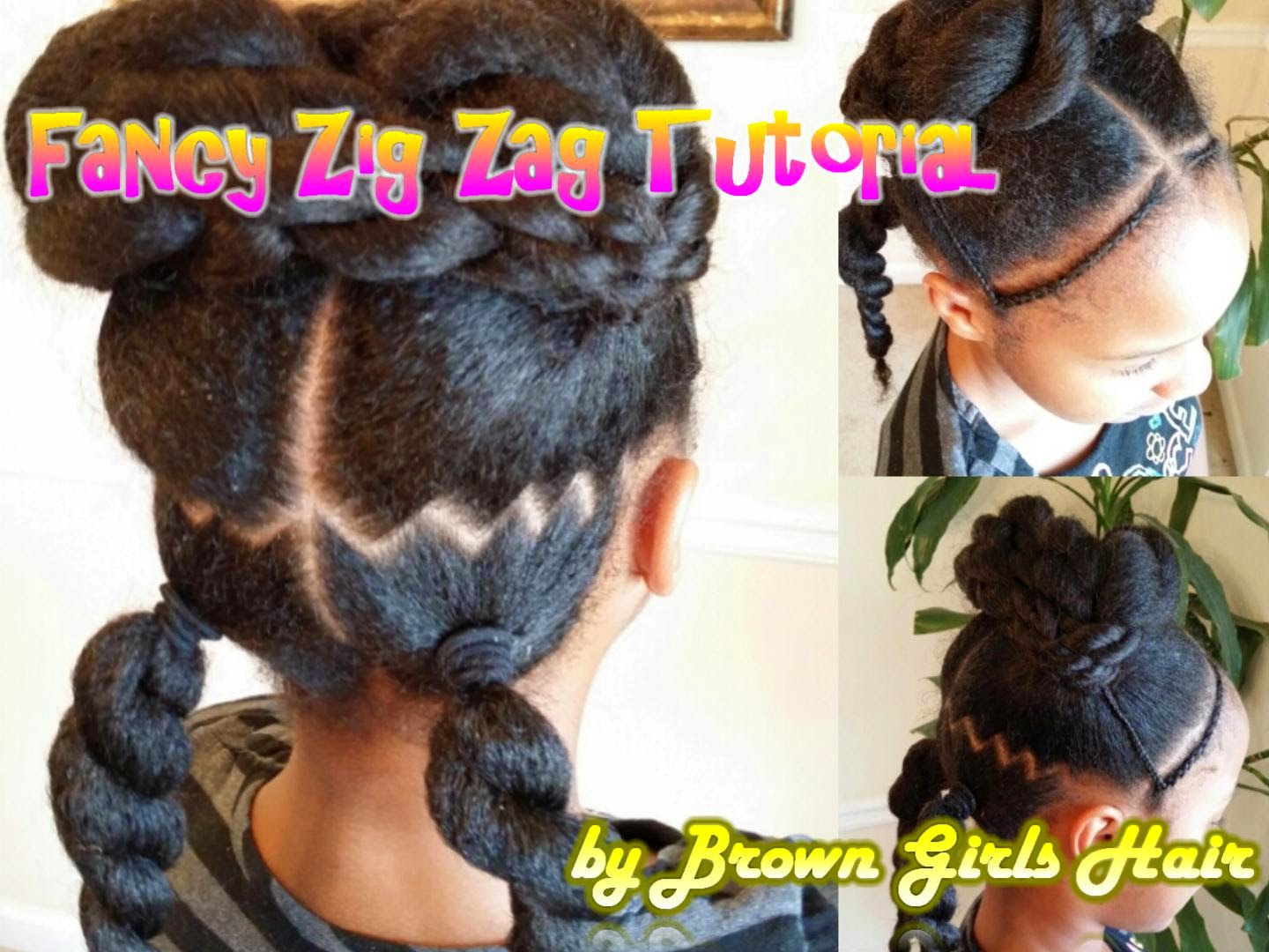 zig zag ponytails hairstyles for little black girls