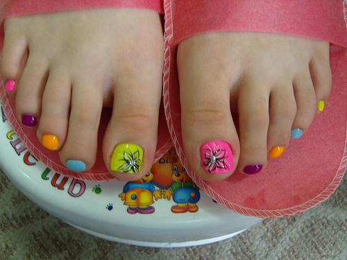 Hairstyle And Fashion Pedicure Art Design