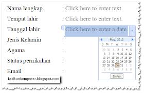 form input tanggal