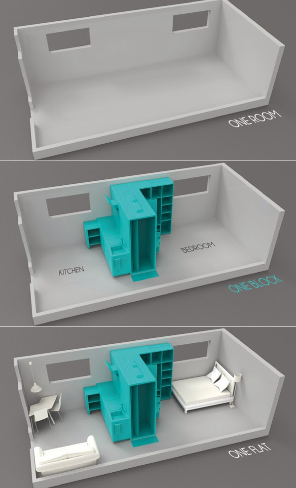 Оригинальная комната c централизованным пространством