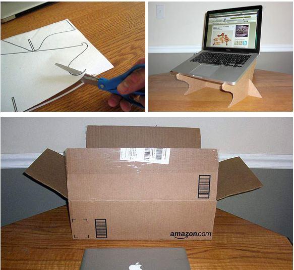 Zona de manualidades mesa de carton para laptop - Mesas de carton ...