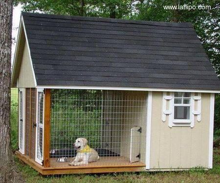 Arquitectura de casas casa para perro de millonario - Jardin para perros ...