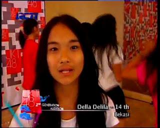 Della Delila , 18 tahun, Bekasi, hmmm... (maaf yaa) matamu juling ...