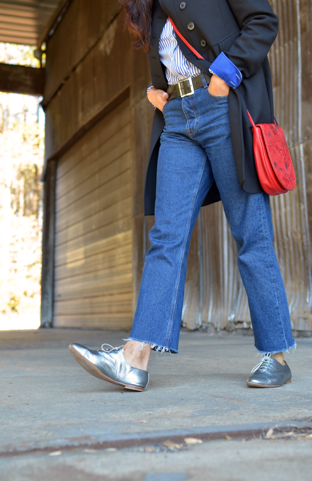 Silver brogues street style