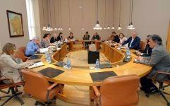 Los integrantes de la Xunta de Portavoces celebran una reunión para el calendario parlamentario Xoán Rey