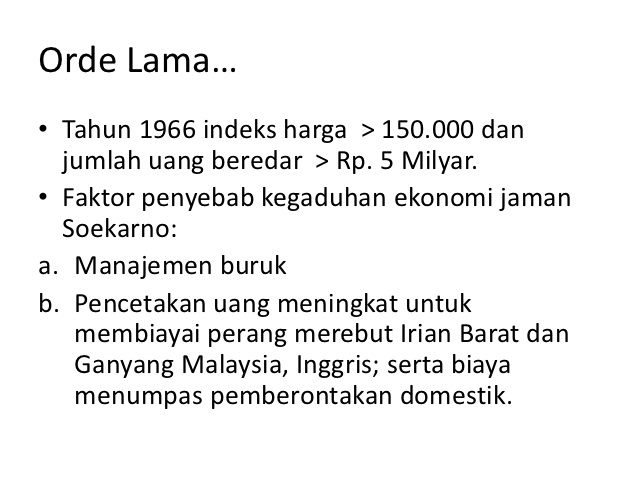 Analisis pertumbuhan ekonomi indonesia sejak orde lama