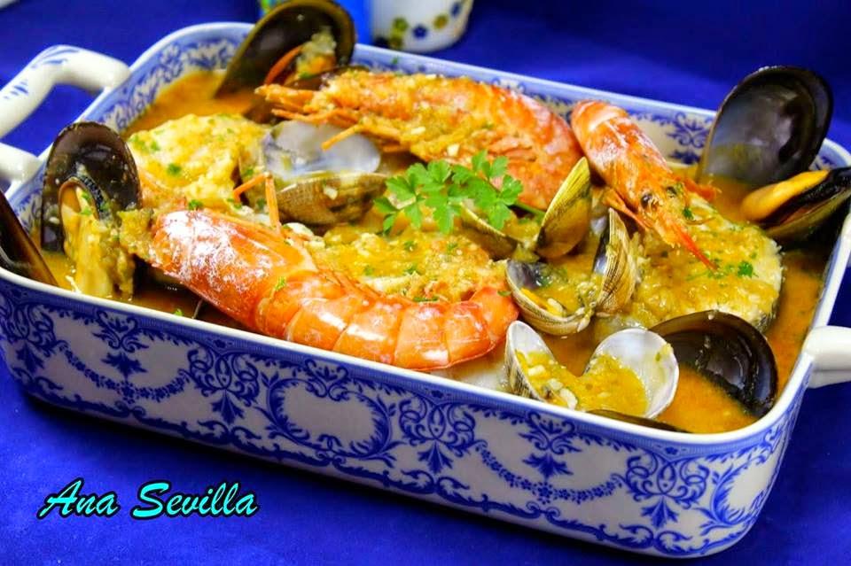 Zarzuela de marisco Ana Sevilla cocina tradicional