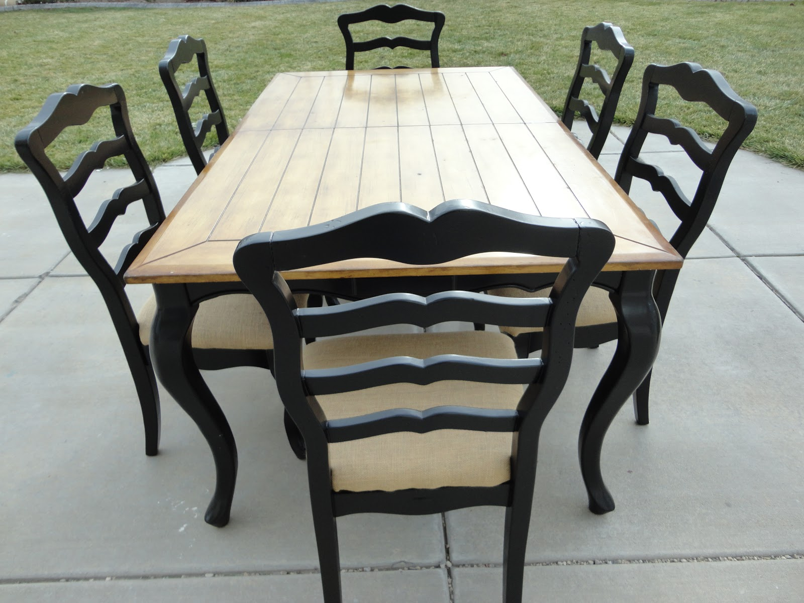 the painted chic design sold two tone dining set. Black Bedroom Furniture Sets. Home Design Ideas