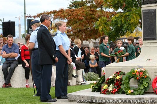 11 Squadron Air Training Corps District of Hastings laid a wreath photograph