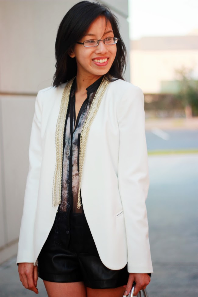 boyfriend blazer fit idea