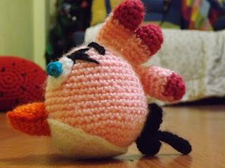 Amigurumi Angry Bird rosa