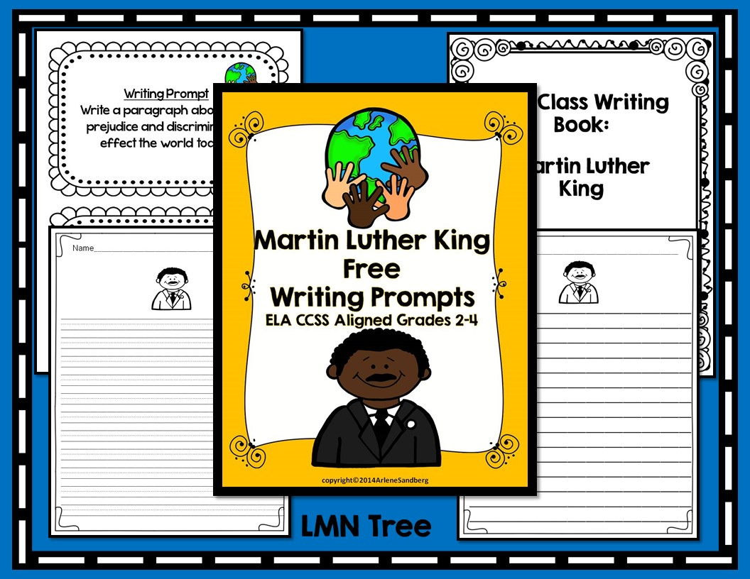 Classroom Writing Ideas ~ Classroom freebies martin luther king writing prompts