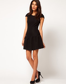 black asos dress