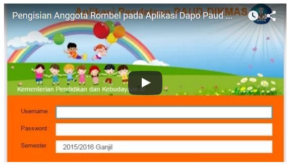Video Tuturial Pengisian Anggota Rombel pada Aplikasi Dapodik PUAD DIKMAS