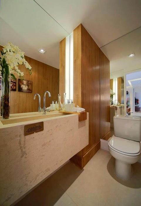 decorar lavabo pequeno:30 Lavabos pequenos e modernos – veja dicas de como ousar e decorar
