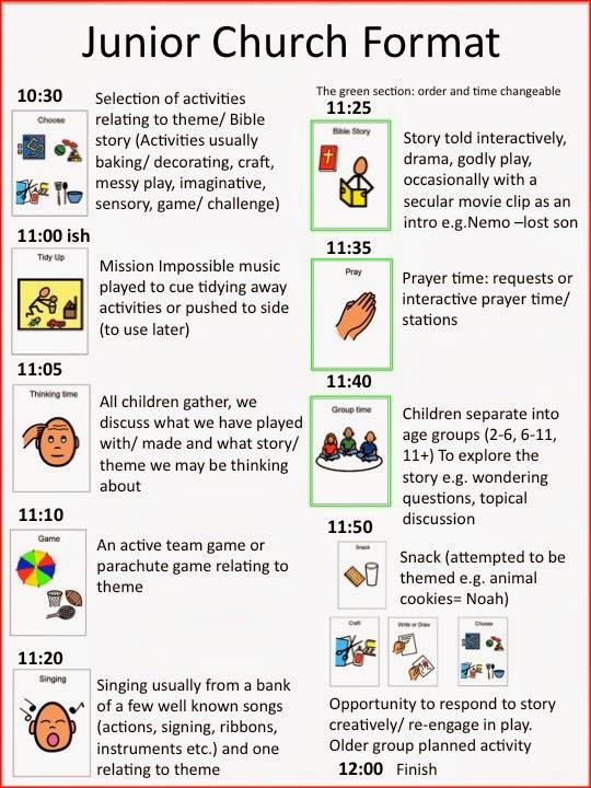 Childrens Church Schedule Ideas