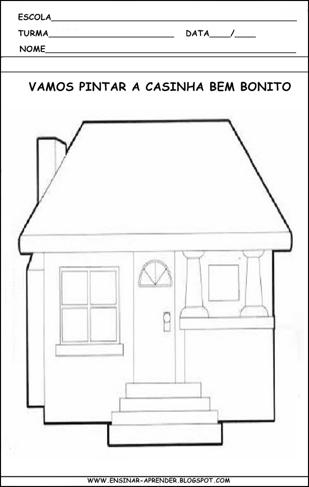 Desta Postagem  Atividades Sobre A Casa  Maquete De Casa  Objetos De