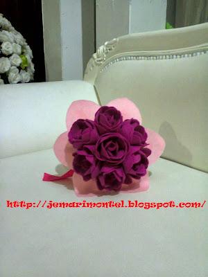 felt roses hand bouquet
