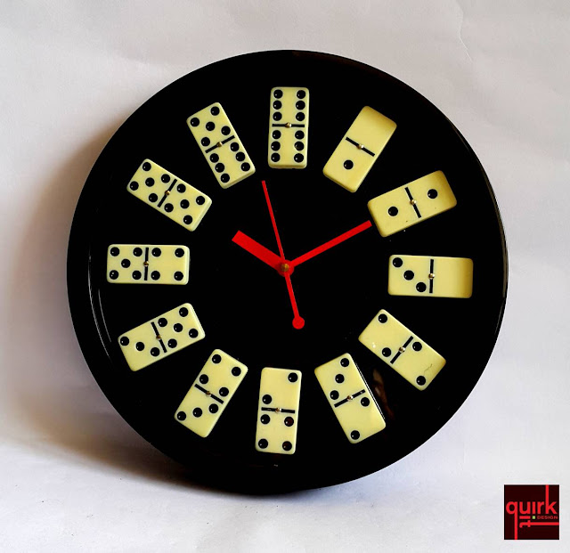 quirkitdesign_domino wall clock_DIY_upcycle_home_decor_quirky_idea_fun_2