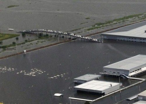 Honda Factory in Flood
