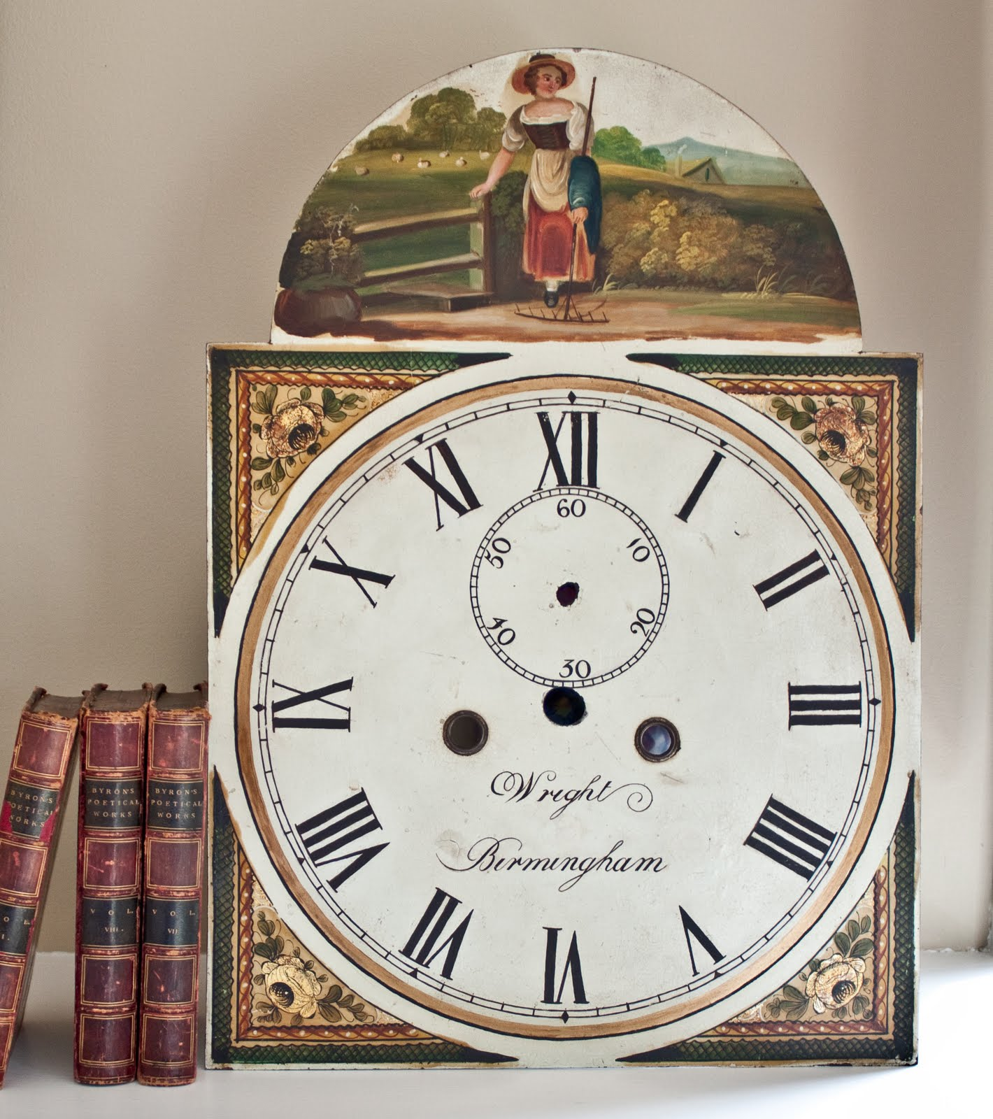 Antique Clock Face Without Hands Was an old clock face.
