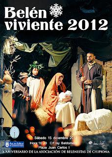 Cartel Belén Viviente en Chipiona (Cádiz) 2012